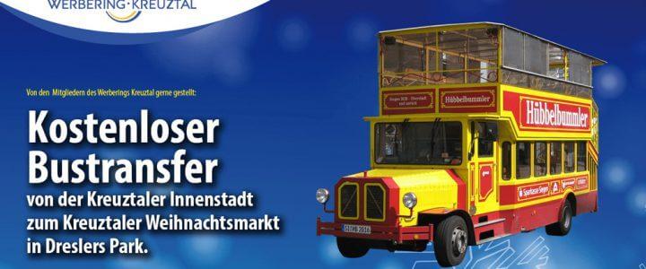 Kostenloser Bustransfer zum Lichterglanz im Park
